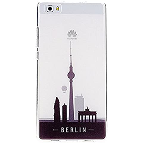 Custodia Huawei P8 Lite Pacyer® Moda Transparente TPU case Gel Silicone Protettivo Skin Custodia Protettiva Shell Case Cover Per Huawei P8 Lite (3)