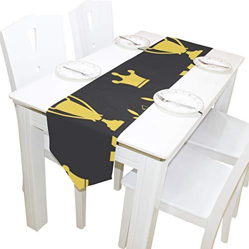 edaille Preis Belohnung Kommode Schal Tuch Abdeckung Tischläufer Tischdecke Tischset Küche Esszimmer Wohnzimmer Home Hochzeitsbankett Dekor Indoor 13x90 Zoll ()