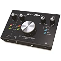 M-Audio M-Track 2 x 2M USB Audio/MIDI Interface for Studio Grade-Recording with Cubase and Plug-In Software Package,Black