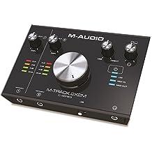 M-Audio M-Track 2x2M - Interfaz de audio y MIDI USB con 2 entradas y 2 salidas, audio a 24 bits y 192 kHz, Cubase y paquete de software