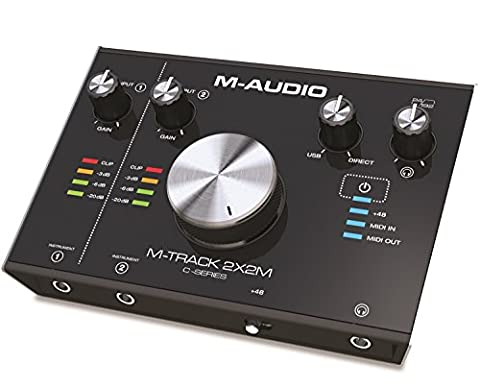 M-Audio M-Track 2X2M 2-In/2-Out 24/192 USB Audio/MIDI Interface for High-Resolution,