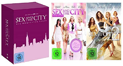 Sex and the City Box Die komplette Serie Staffel 1-6 + Kinofilm Teil 1+2 [DVD Set] (The Sex Tv-serie City And)