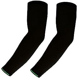 Azaleas - 1par de mangas Premium UV de refrigeración para brazo –unisex–ciclismo baloncesto, negro