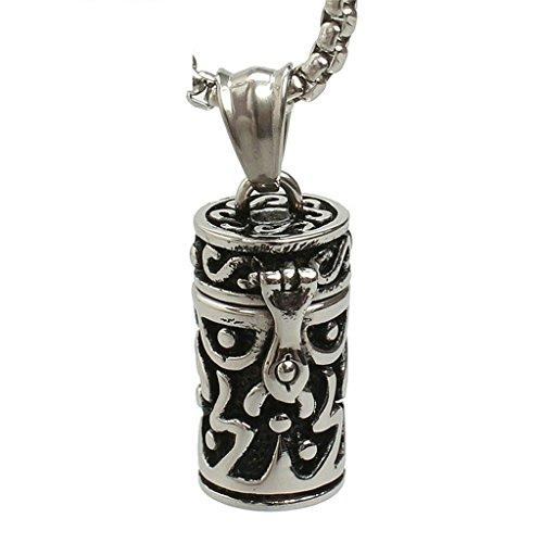 Aooaz Mens Boys en acier inoxydable pendentif urne pour animaux de compagnie animaux pendentif rétro Vintage Punk gothique