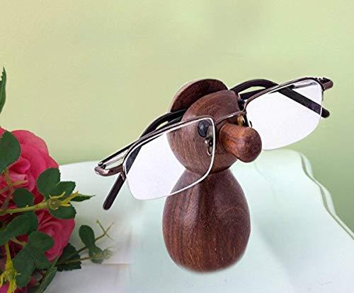 Bignay Holz Spectacle Holder NUD Form, perfekt, um Ihre Spezifikationen, sicher Brille, Sonnenbrille Halter, Brillenhalter für Männer und Frauen 5 Zoll zu halten