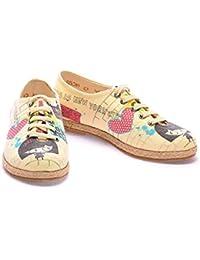 GOBY Zapatos de Cordones Multicolor EU 41 0Aw5ZBbN2