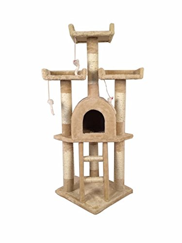 NEW-Cat-Tree-Scratching-Post-Scratch-Activity-Centre-Bed-Toys-Scratcher