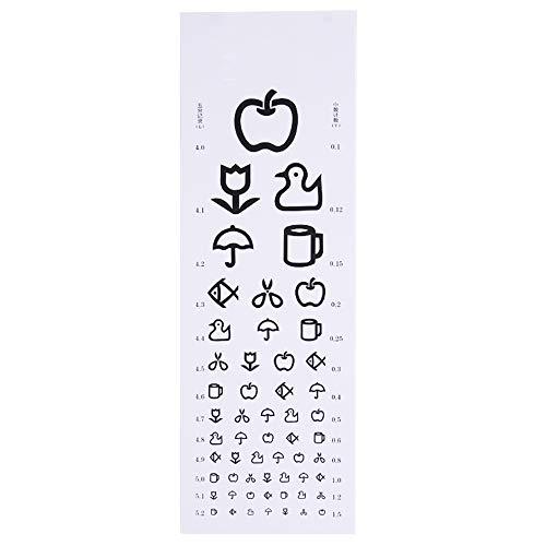 International Standard Logarithmic Sehschärfe Diagramm PVCE Word Inspection Eye Chart