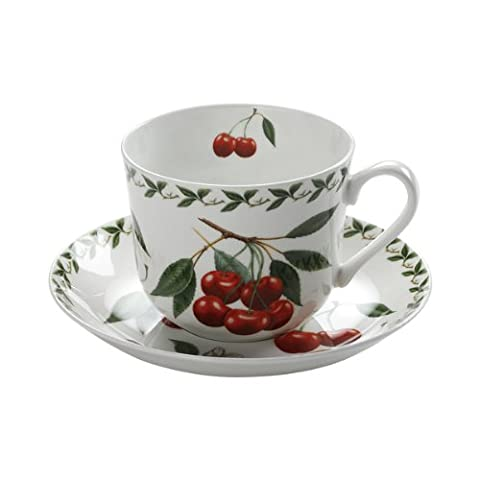 Maxwell & Williams M Orchard Fruit Breakfast Cup. Basse Cerise, Boîte-Cadeau