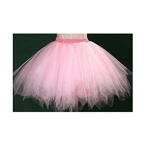 Tutu Frauen und Mädchen Ballettröckchen Röcke Prinzessin Ballett Pettiskirt Performing Dress Dancewear Unterröcke Pink