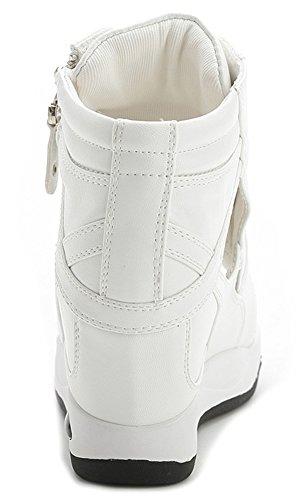 Cunha Peep Senhoras Sapatos De Sandália Toe Wealsex Salto Branco Verão AHw0w7tq6