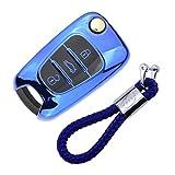 Coque en Silicone pour Clé Kia Hyundai - Cover Housse TPU Souple en Chrome pour...