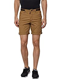 BEEVEE Mens Khaki Coloured Cotton Shorts, Cotton Stretch Fabric,soft Cotton Blend,has Four Pockets,a Fixed Waist...