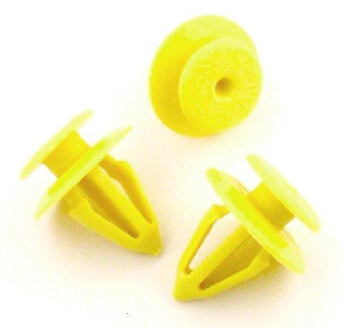 10 x Clips Agrafe Plastique Panneaux de Portes / Garnissages - Ford / Seat / Audi - 1008068 / 7M0867299K - LIVRAISON GRATUITE!