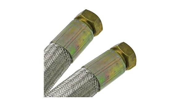 Femelle//Femelle 1 26//34 - 1000mm Flexible chauffage Galva /Øint/ér.25mm Flexible chauffage central