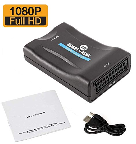 Scart zu HDMI 1080P Full HD Upscaler Konverter (für Sky Box, STB, Wii, DVD) (Uk Box Hd Sky)