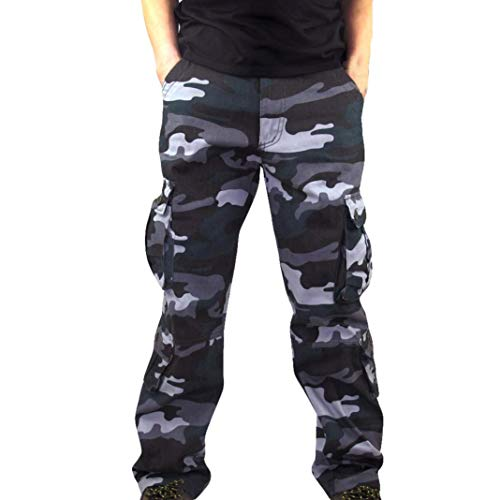 f31bc8762b Hommes Pantalons Camouflage Travail Longues Militaire Cargo Sport Baggy