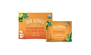 Lion's Mane Mushroom Elixir Mix by Four Sigmatic (20 Count) - Helps Improve Memory, Concentration & Focus - Safe, Vegan Friendly Immune System Booster