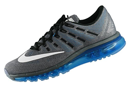 Nike Air Max, Chaussures de Running Entrainement Homme gris - Gris (Gris (Dark Grey/White-Photo Blue-Blk))