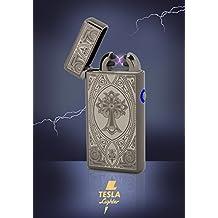 Tesla-Lighter T08 Lichtbogen Feuerzeug USB Feuerzeug Elektro Feuerzeug Double Arc wiederaufladbar Schwarz Kreuz