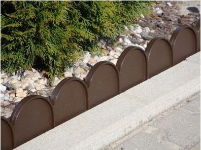 palissade-petite-cloture-bronze-20-elements-10-m-plastique-jardin-plants