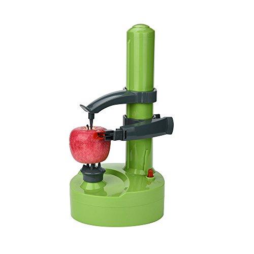 Wokee Multifunktions-Apfelschäler, Entkerner und -Schneider aus Gusseisen Edelstahl-elektrisches Gemüse-Frucht-Apple Peeler Peeling Profi Apfelschneider Spiralschneider (Blau)