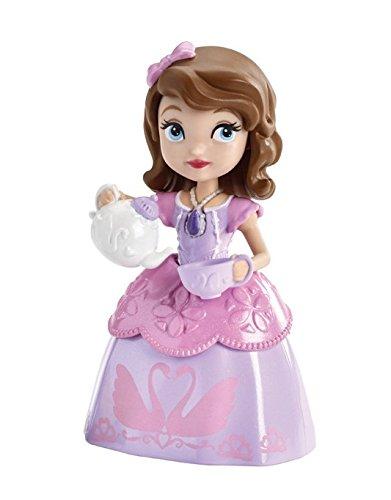 Mattel CJR00 - Disney Princess - Sofia die Erste - Prinzessin Sofia mit Teeservice - 9 cm Spielfigur & Zubehör
