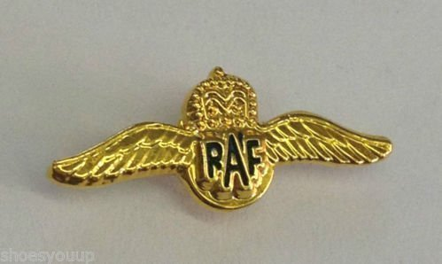 MOD Approved Pin Badge - Royal Air Force RAF Pilot Sweetheart Wings Small Pin Badge