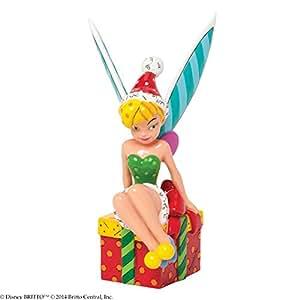 Disney By Britto 4039146 Figurine Fée Clochette sur un Cadeau 10 cm