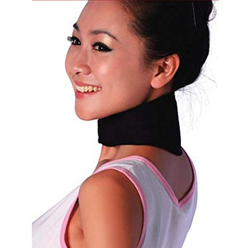 Blackpjenny terapia magnetica supporto al collo protezione tormalina protettiva riscaldamento mal di testa cintura collo sollievo dal dolore massaggiatore drop