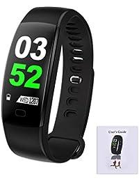 F64HR Smart Armband mit Blutdruckmessgerät, Smart Watch mit Wärmemonitor, Activity Tracker Smart Armband Wasserdichte Fitnessuhr mit Schlafmonitor