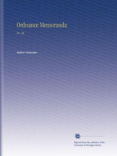 Ordnance Memoranda: No. 28
