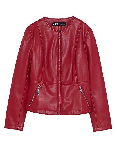 Zara Damen Jacke aus Kunstleder 3046/042 (X-Large)