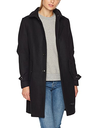 g star whistler damen G-STAR RAW Damen Mantel Empral Wool Trench Wmn, Schwarz (Black 990), X-Small