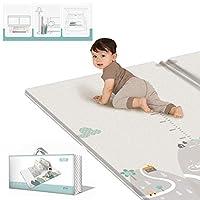 Yavso Baby Play Mat, Yavso Non Toxic Folding Floor Mat Foam Play Mat Double-Sided Waterproof Baby Crawling Mat for Toddler Boy Girl, 200 x 180cm