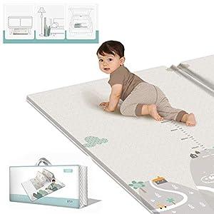 Yavso Spielmatte Baby, Yavso 200 x 180cm Faltbare Spielteppich Teppich Kinderzimmer Rutschfest Beidseitig Wasserdicht…