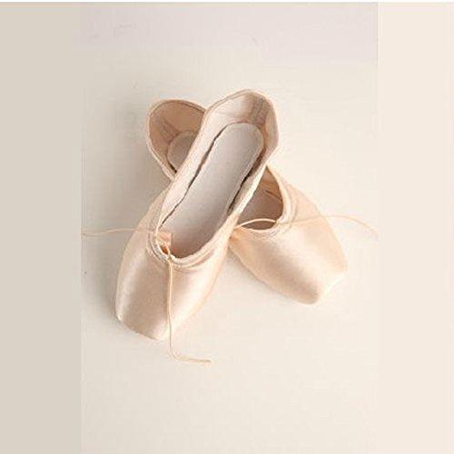 E Support™ Ballettschuhe Ballettschlaeppchen Damen Kinder Tanz Spitzenschuhe Khaki