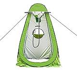 J.SPG Automatisches Aufstellzelt Leichtgewicht Baden, Duschzelt Toilette 1 Person Wasserdicht Winddichtes Zelt Sonnencreme Warm bleiben Camping Im Freien Reisen (ohne Dusche),Green