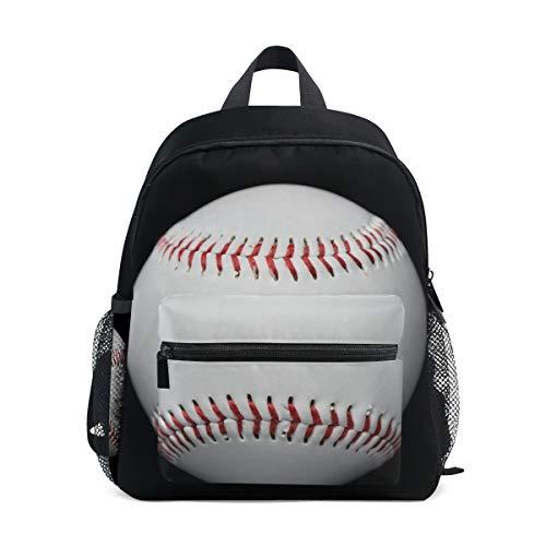 Sport Spiel Baseball Weiß Schwarz Rucksack Rucksack Kleine Daypack Taschen für Mädchen Jungen -