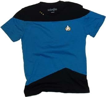 Star Trek: The Next Generation Mens Blue Uniform T-Shirt (X-Small)