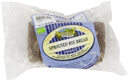 Everfresh Sprouted Rye Organic Bread 400 g (Pack of 8)