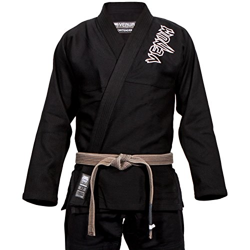 Venum contender 2.0–kimono per brasilian jiu jitsu da uomo, uomo, contender 2.0, nero, a2