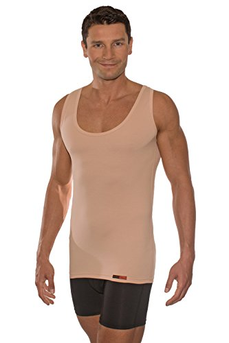 a838680195b104 ALBERT KREUZ Business Trägerunterhemd unsichtbar mit extra tiefem  Ausschnitt Stretch-Baumwolle Hautfarbe Made in Germany