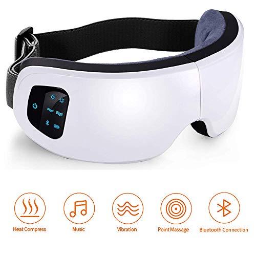 Scopri offerta per Massaggiatore elettrico per occhi, FLYHANA Maschera per massaggio senza occhi con compressione ad aria compressa a pressione d'aria Bluetooth per borse oculari, cerchi scuri, affaticamento degli occhi