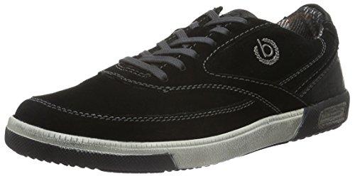 bugatti-k25013-zapatillas-para-hombre-negro-schwarz-100schwarz-100-42-eu