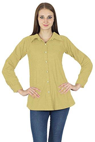 Chemise À Manches Longues En Coton Kurta Haut Vêtements Pour Beige clair