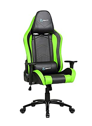 Newskill Takamikura - Silla Gaming Profesional (inclinación y Altura Regulable, reposabrazos Ajustables, reclinable 180º), Color Verde