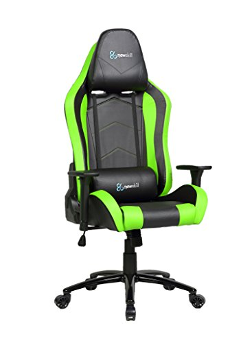 Newskill Takamikura - Silla Gaming Profesional (inclinación y Altura Regulable, reposabrazos Ajustables, reclinable 180º), Color Verde