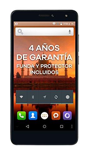 """Intex Aqua S9 Pro - Smartphone libre Android (pantalla 5.5"""", 4G LTE, 16 GB, 2 GB de RAM, cámara 13 MP), color gris grafito"""