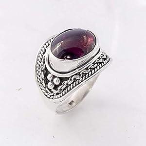 Garnet Gemstone Handmade 925 Sterling Silver Ring Jewelry